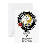 Stewart of Appin Clan Crest Greeting Cards (Packag