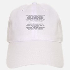 Defination Of A Nanny Baseball Baseball Cap