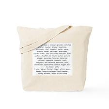 Defination Of A Nanny Tote Bag
