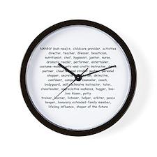 Defination Of A Nanny Wall Clock