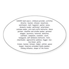 Defination Of A Nanny Oval Decal