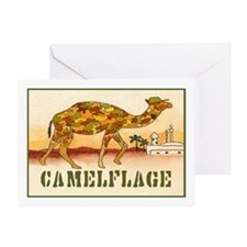 """CAMELFLAGE"" Greeting Card"