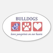Bulldog Lover Gifts Sticker (Oval)