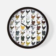 49 Hen Breeds Wall Clock
