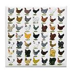 49 Hen Breeds Tile Coaster