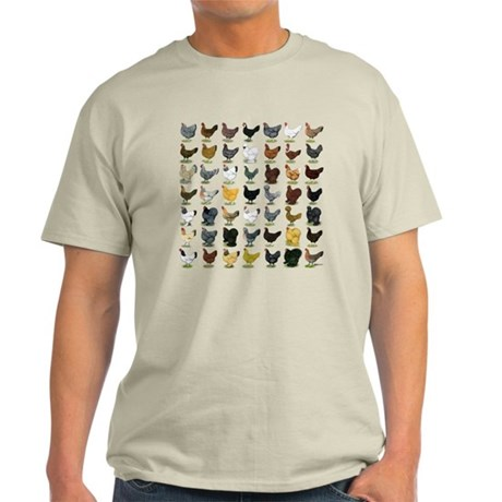 49 Hen Breeds Light T-Shirt
