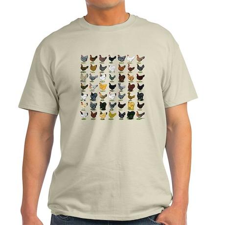 49 Hen Breeds Light T-Shirt