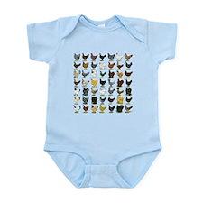 49 Hen Breeds Infant Bodysuit
