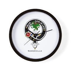 Somerville Clan Crest / Badge Wall Clock