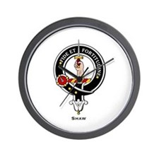 Shaw Clan Crest / Badge Wall Clock