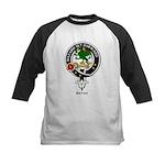 Seton Clan Crest / Badge Kids Baseball Jersey