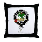 Seton Clan Crest / Badge Throw Pillow
