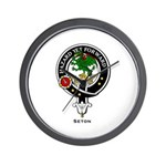 Seton Clan Crest / Badge Wall Clock