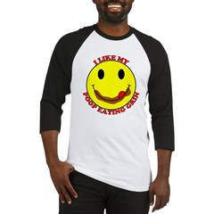 Poop Eating Smiley Face Baseball Jersey