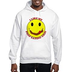 Poop Eating Smiley Face Hoodie