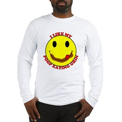 Poop Eating Smiley Face Long Sleeve T-Shirt