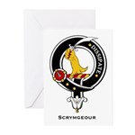 Scrymgeour Clan Crest Greeting Cards (Pk of 10