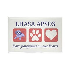 Lhasa Apso Gifts Rectangle Magnet