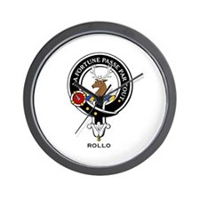 Rollo Clan Crest / Badge Wall Clock