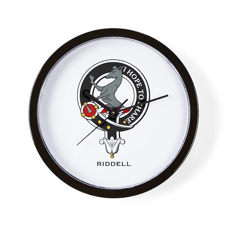 Riddell Clan Crest / Badge Wall Clock