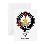 Rattray Clan Crest / Badge Greeting Cards (Package