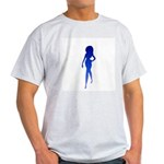 Sexy Woman Blue Ash Grey T-Shirt