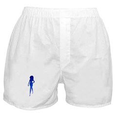 Sexy Woman Blue Boxer Shorts