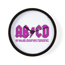 AB/CD Wall Clock