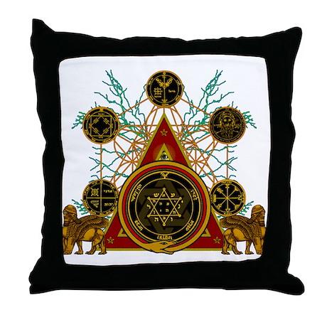SOLOMON'S MAGIC PENTACLES Throw Pillow
