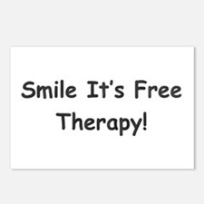 Smile It's Free Therapy! Postcards (Package of 8)