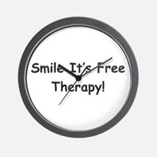 Smile It's Free Therapy! Wall Clock
