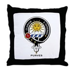 Purves Clan Crest / Badge Throw Pillow