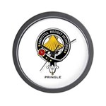 Pringle Clan Crest / Badge Wall Clock