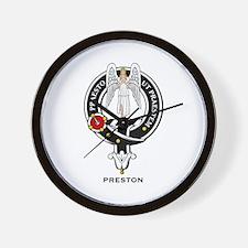 Preston Clan Crest / Badge Wall Clock