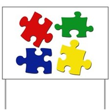 Puzzle Pieces Yard Sign