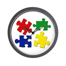 Puzzle Pieces Wall Clock