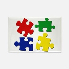 Puzzle Pieces Rectangle Magnet (10 pack)