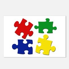 Puzzle Pieces Postcards (Package of 8)