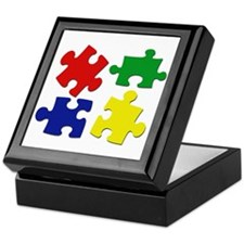 Puzzle Pieces Keepsake Box