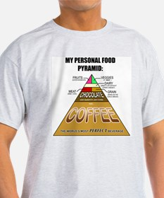 Coffee Pyramid Ash Grey T-Shirt