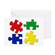 Puzzle Pieces Greeting Cards (Pk of 20)
