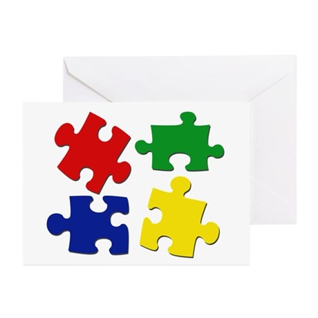 Puzzle Pieces Greeting Cards (Pk of 10)