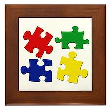 Puzzle Pieces Framed Tile