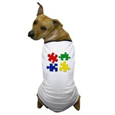 Puzzle Pieces Dog T-Shirt