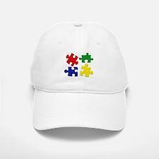 Puzzle Pieces Baseball Baseball Cap