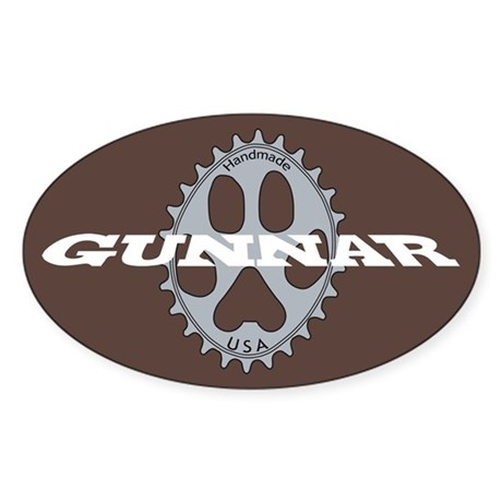 Gunnar Chocolate Sticker (Oval)