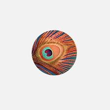 Peacock Mini Button