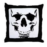Wicked Skull Cool Throw Pillow