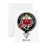Ogilvie Clan Crest Badge Greeting Cards (Package o