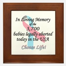 Pro Life Ribbon Anti-Abortion Framed Tile